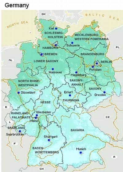 Karta Njemacke Sa Postanskim Brojevima Karta