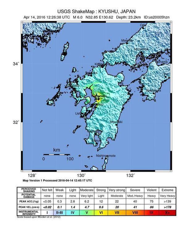 6.0 magnitude earthquake detected in Japan